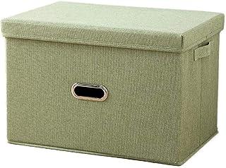 YShop Boîtes de Rangement avec couvercles et poignées, Cubes en Tissu de Coton et de Lin Pliables, corbeilles de Rangemen...