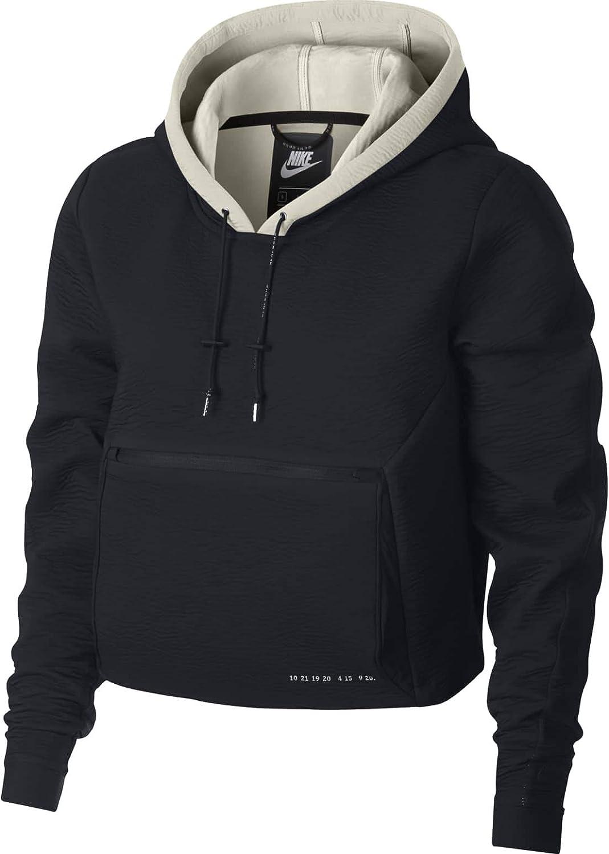 Nike Sportswear Womens Tech Pach Hoodie Packable Black Size