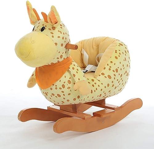 en linea YINUO YINUO YINUO Ride-ons Baby Rocking Horse , Kid Ride On Toyfor 1-3 años de edad, Toddler Girl & Boy Wooden Ride Horse al aire libre, Animal de mecedora de peluche de peluche suave, Regalo de juguete de mecedo  encuentra tu favorito aquí