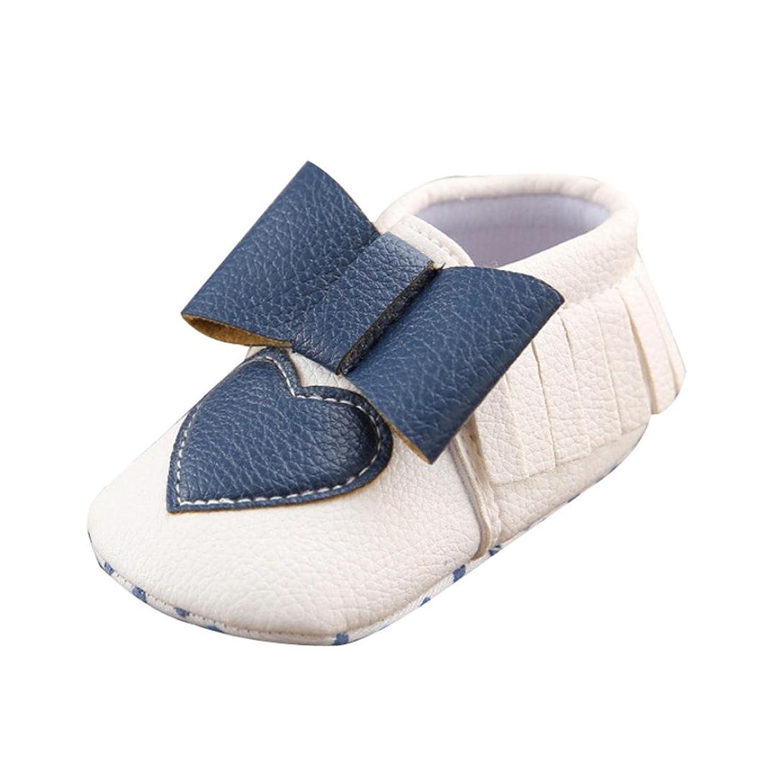 ベビーシューズ Mangjiu ハート 蝶結び 可愛い 通気 学步靴 滑り止め 運動靴 幼児靴