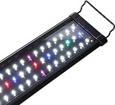 SHUPAT Full Spectrum Aquarium Light, with Aluminum Alloy Shell Extendable Brackets Fish Tank Light, White Blue Red Combine...