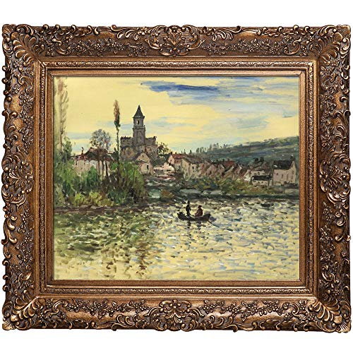 overstockArt The Seine at Vetheuil by Monet Hand Painted Oil Canvas Art by Monet