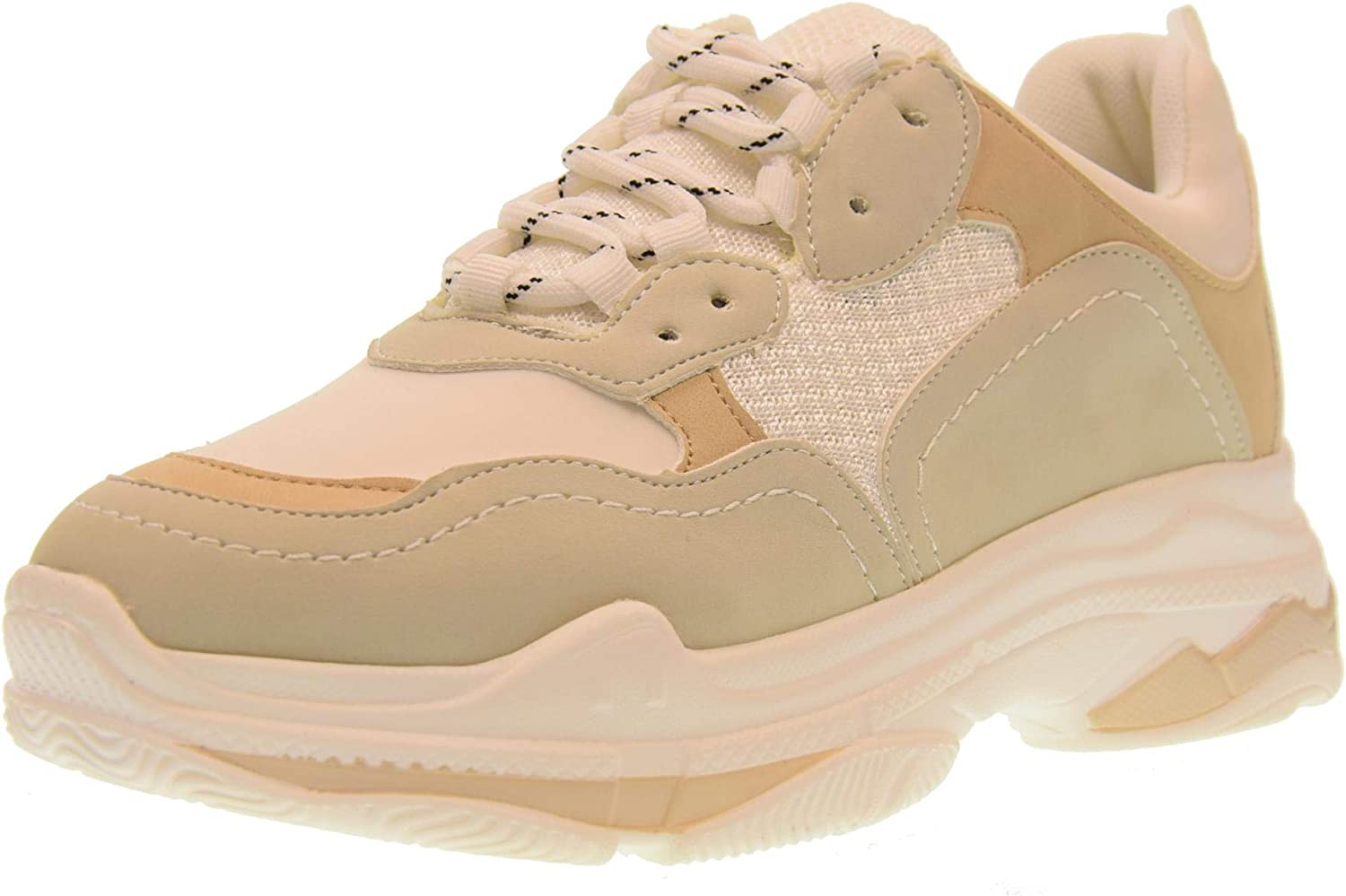 gold&gold shoes Woman Low Sneakers gt530 Bianco-Beige
