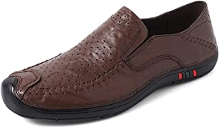 Men's Driving Loafers Fooling Quaternary Seasons Set Foot Size Comfortable Wear-resistant Boat Moccasins(Hollow optional) casual shoes (Color : Hollow Dark Brown, Size : 44 EU)