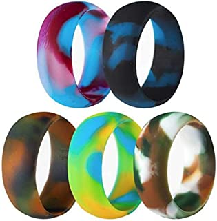 5 Pack Size 5-15 Rubber Silicone Rings Flexible Outdoor Wedding Engagement