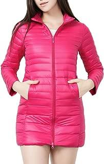 AbelWay Women's Ultra Light Weight Outdoor Coat Packable Outwear Long Puffer Down Jacket