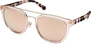 Kính mắt nữ cao cấp – Kate Spade Jalicia/F/S Peach/Gray Rose Gold Square Women's Sunglasses, 54mm