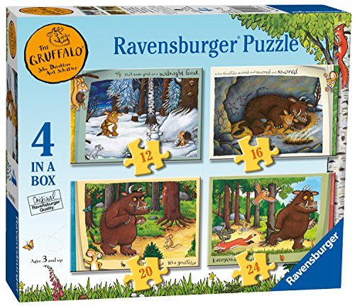 Ravensburger 6916 Grüffelo-Puzzle, 4-in-1-Box