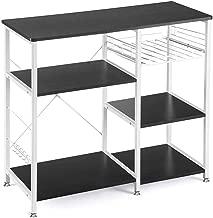 Vanspace Kitchen Baker's Rack Utility Storage Shelf Microwave Stand 3-Tier + 3-Tier Kitchen Storage Cart Table for Spice Rack Organizer Workstation with 5 Hooks