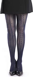 Women Fishnet Hollow Out Chiffon Lace Stockings Tights Vertical Strips Pantyhose