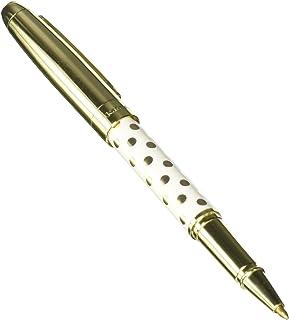 Kate Spade New York Black Ink Ballpoint Pen, Gold Dot