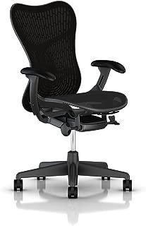 Herman Miller Mirra 2 Task Chair: Tilt Limiter w/Seat Angle Adjustment - FlexFront Adj Seat Depth - Adj Lumbar Support - Butterfly Back - Adj Arms - Graphite Base & Frame
