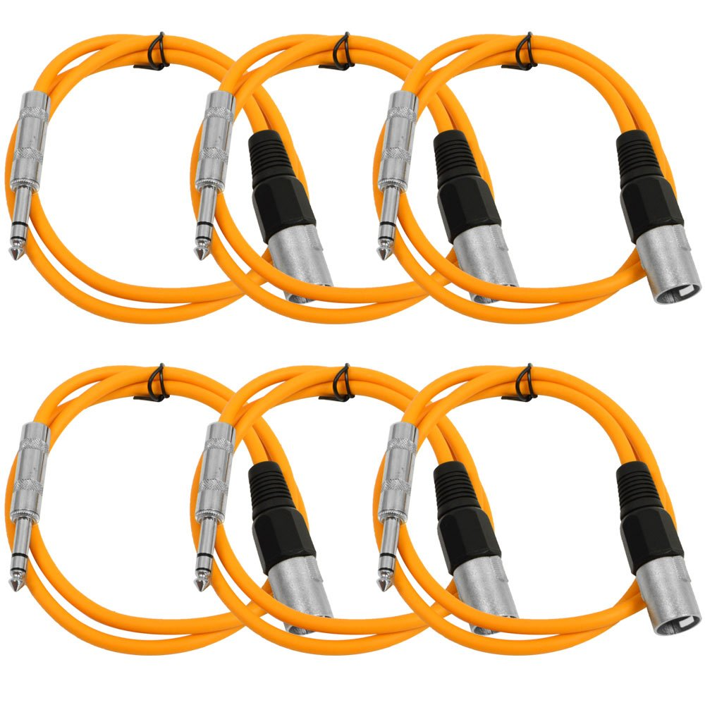 Seismic Audio SATRXL-M2Orange6 2-Feet XLR Male TRS 4-Inch Directly managed store to Year-end annual account P 1