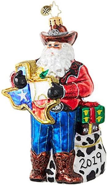 Christopher Radko 没有什么地方像德克萨斯 2019 的圣诞装饰品