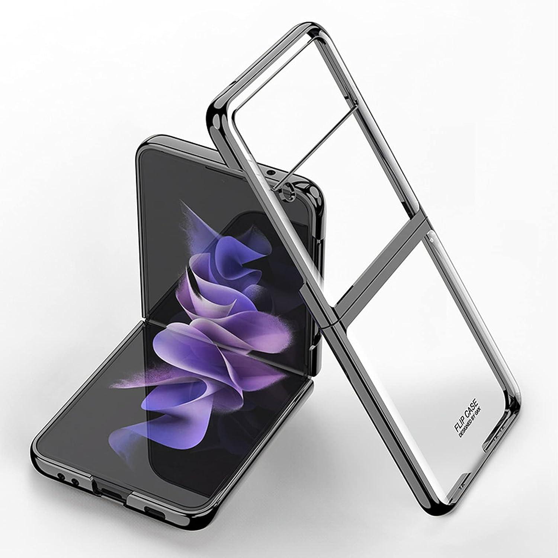 Fasser Phone Case Compatible with Samsung Galaxy Z Flip 3 5G 2021.(Black)
