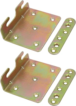 uxcell5-inch Screw Fixed Bed Hinge Rail Brackets Connecting Fittings 2 Sets