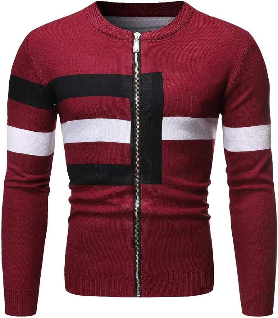 Mens Cardigan Sweater Slim Fit, NRUTUP Cable Knit Cardigan, Classic Designer Zip Cardigan, Winter Work Basic Gift Idea