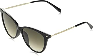 Fossil Women's 201800 Sunglasses, Color: Black, Size: 54