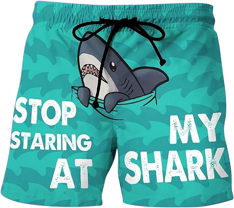 Swimtrunks for Men Summer Drawstring Pattern Pants Attention brand Max 75% OFF Funny Print
