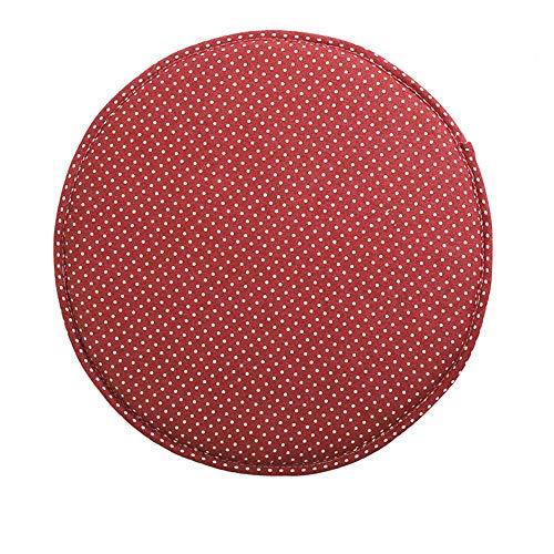 LZYD 100% Cotone e Lino Antiscivolo Cuscino Sedia Set di 4 Comodo Traspirante Cuscini per sedie Spesso Cuscino Tondo per Sgabello 40cm per Cucina Piccolo Sgabello Esterno etc