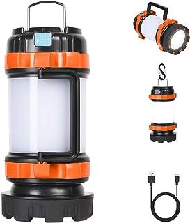 Flintronic Led-campinglamp, 1000 lumen, oplaadbare handlamp, waterdichte zoeklamp met 4 lichtmodi en USB-kabel, 3600 mAh a...