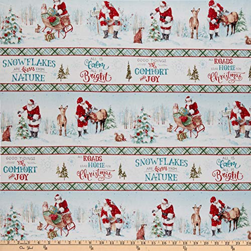 Wilmington A Magical Christmas Repeating Stripe Multi Quilt Fabric By The Yard
