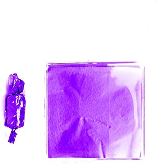 Linen and Bags 250 Foil Candy Wrappers for Chocolates, Caramels, Lollipops, and Crafts (3x3, Purple)