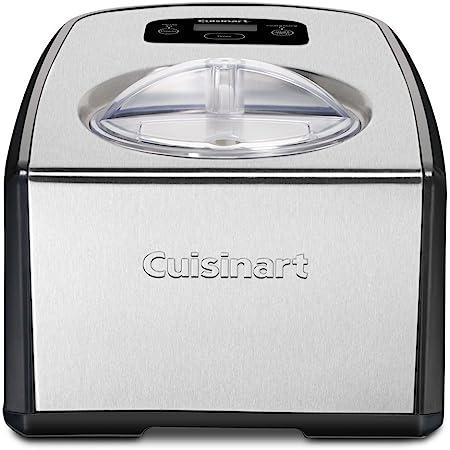 Cuisinart ICE-100 Compressor Ice Cream and Gelato Maker, Silver, 1-1/2-Quart