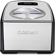 Cuisinart ICE-100 Compressor Ice Cream and Gelato Maker, Silver, 1-1/2-Quart