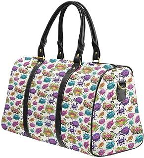 Carry-on Garment Bag Travel Bag Duffel Bag Weekend Bag Comic Book Speech Bubbles
