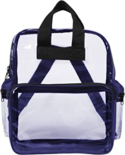 clear backpack by stadium bags