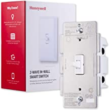 Honeywell Z-Wave Plus On/Off Smart Light Switch, In-Wall Toggle | Built-In Repeater Range Extender | Requires Neutral Wire | ZWave Hub Required - SmartThings, Wink, Alexa Compatible, 39354