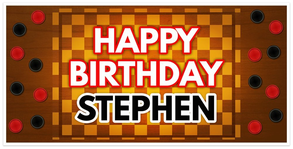 Checkers Birthday Banner Ranking TOP1 Backdrop Party Rapid rise Personalized