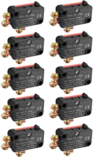 ZealMax 10 UNIDS OV-15-1B5 15A 125 / 250V AC SPDT NO NC Interruptor de límite tipo micro tipo botón a presión con terminales de tornillo