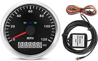 GPS Tachometer, 85mm 9 32V 120MPH Wasserdichter GPS Tacho Kilometerzähler Kilometerstand einstellbar für Auto Motorrad