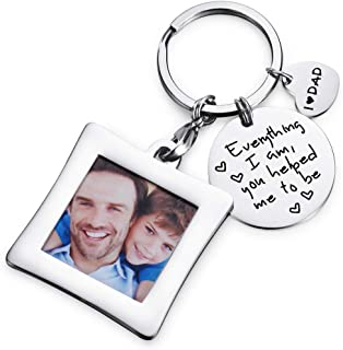 Everything I Am You Helped Me to Be Keychain & Unique Mini Photo Frame Key Chain,Mothers day Gift for Mum,Christmas/Birthday Family Gifts for Mothers
