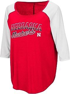 Nebraska Cornhuskers Women's NCAA Long Ball 3/4 Sleeve Dual Blend Shirt