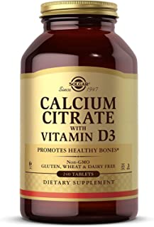 Solgar Calcium Citrate with Vitamin D3 Tablets, 240 Count (Pack of 1)