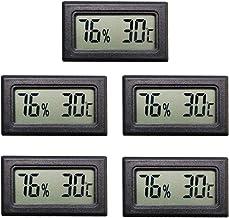Thlevel Mini Termómetro Higrómetro Digital Interior de Temperatura y Humedad (5 PCS)