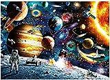 Taishan Rompecabezas Espacial Rompecabezas para Adultos Rompecabezas de 1000 Piezas para Adultos Planetas en el Espacio Rompecabezas de Piso