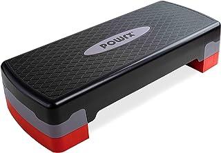 POWRX Stepbank voor thuis incl. workout I Stepper in hoogte verstelbaar en antislip voor aerobic, gymnastiek en fitness I ...
