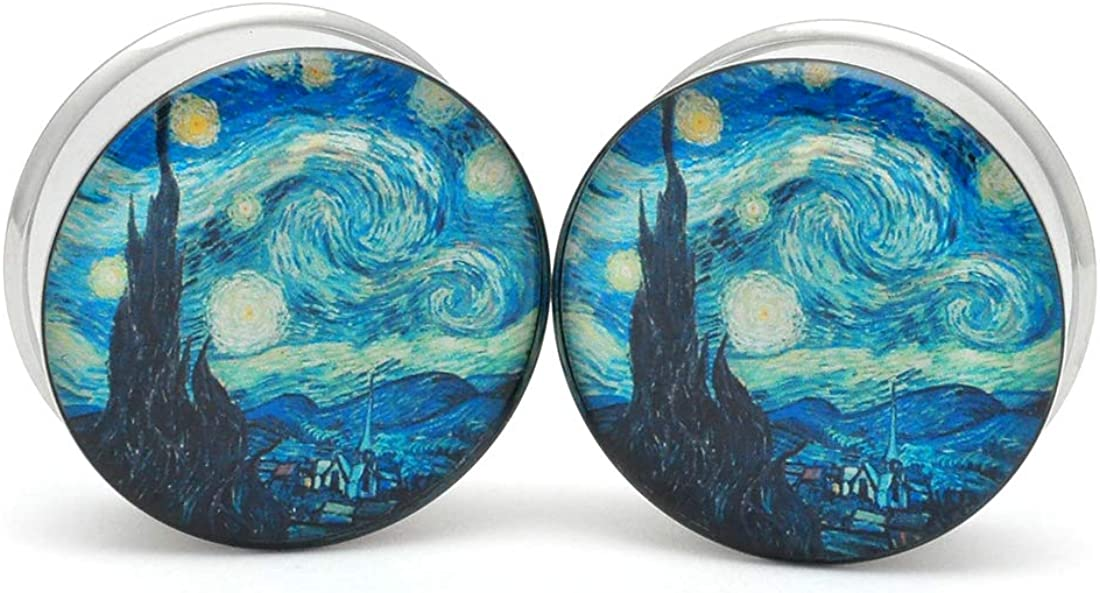 Mystic Metals Body Jacksonville Mall Jewelry Large Plug Gauge Department store Picture Starry Night