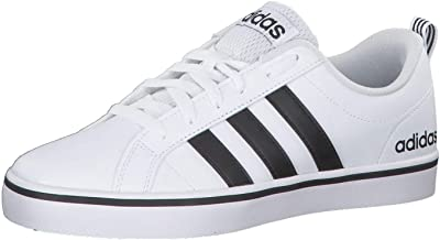 Adidas VS Pace Nubuck Contrast Side Stripe Sport Sneakers for Men - White, 42 2/3