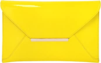 Faux Patent Leather Envelope Candy Clutch Bag