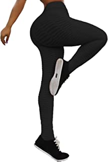 Womens Ruched Butt Lifting High Waist Yoga Pants Tummy Control Leggings Tight