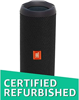 (Renewed) JBL Flip 4 Portable Wireless Speaker with Powerful Bass & Mic (Black)