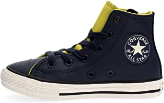 7a5e4f343e9cc CONVERSE 655164C ALL STAR HI SIDE ZIP OBSIDIAN SNEAKERS Enfant OBSIDIAN 28