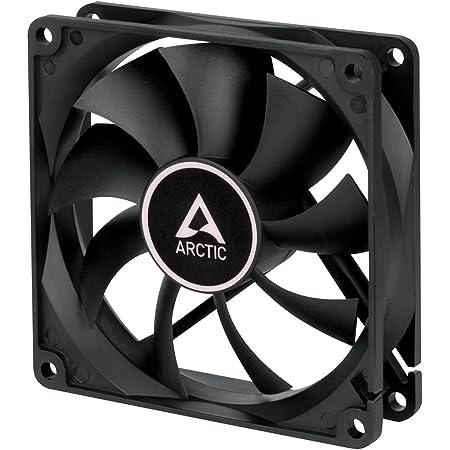 ARCTIC F9 - 92 mm, Ventilateur Haute Performance, Ventilateur Boitier, Refroidisseur Silencieux pour Unité Centrale, 1800 RPM - Noir