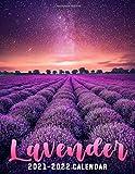Lavender 2021 - 2022 Calendar: 18 Months Book Calendar - Beautiful Pictures
