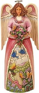 Enesco Jim Shore Heartwood Creek Musical Spring Four Seasons Angel Plays Spring Gardens Figurine, 9-1/2-Inch